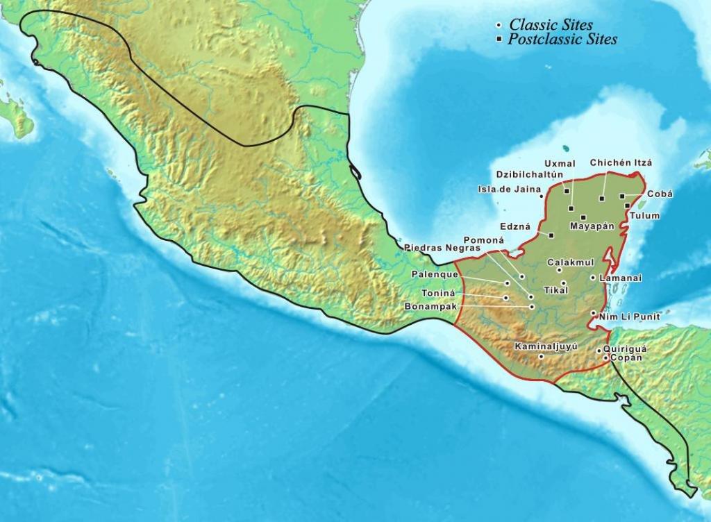 Расположение племен на карте